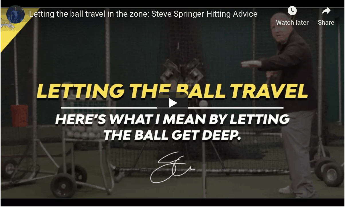 Letting The Ball Travel Trick.