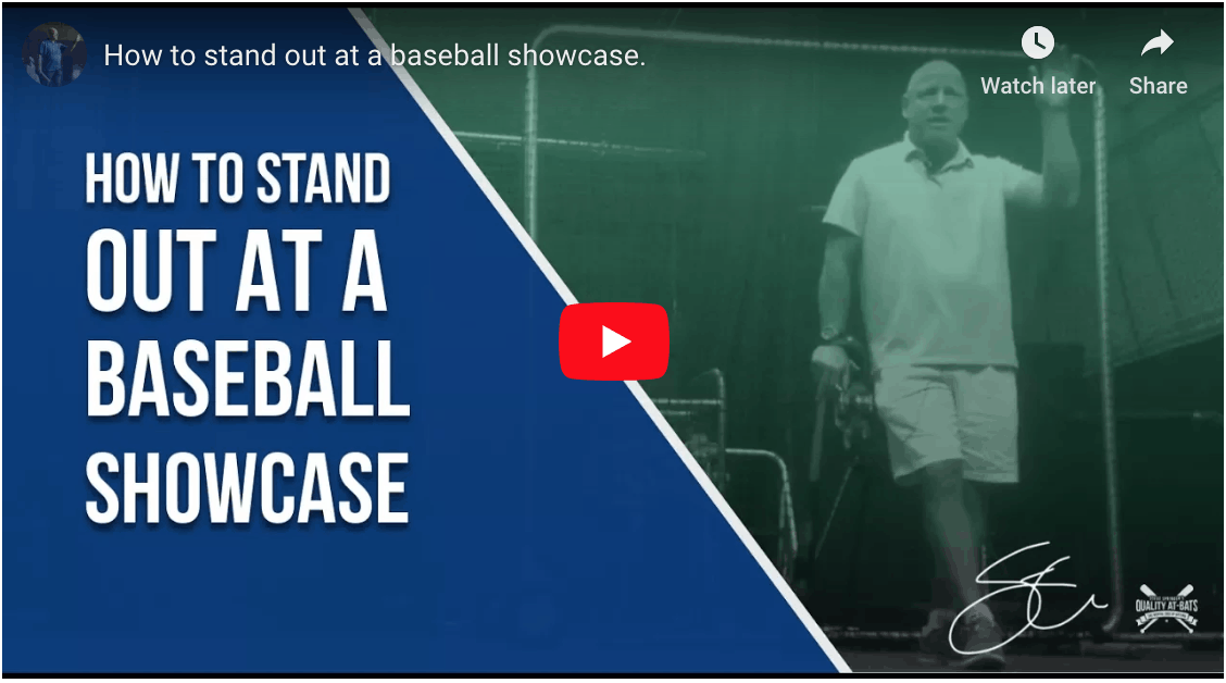 How To Stand Out At Baseball Showcases.