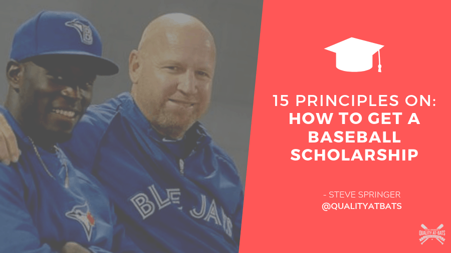 How To Get A Baseball Scholarship